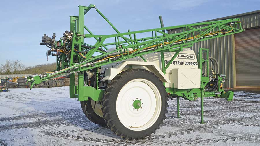 Househam Spraycare trailed sprayer