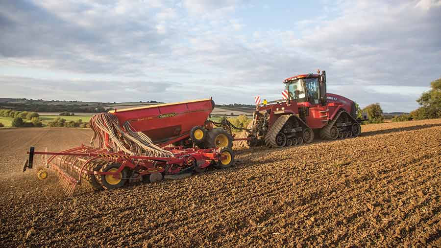 Drill doing Variable-rate seeding