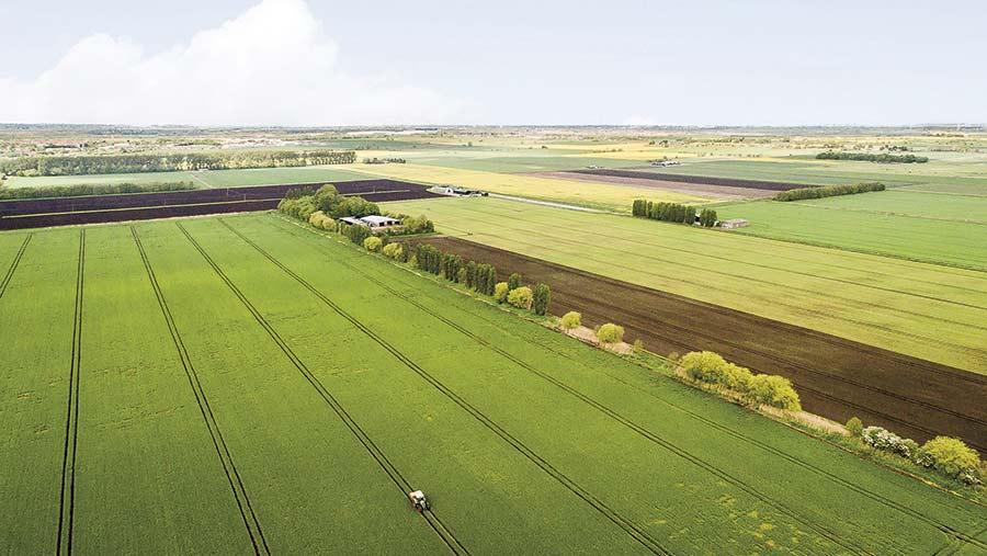An aerial view of Farcet Farm