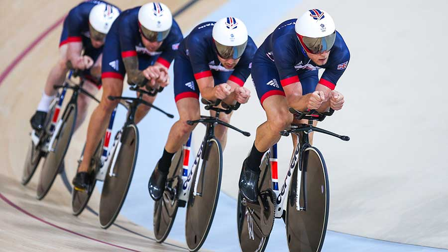 GB team pursuit, Rio, 2016