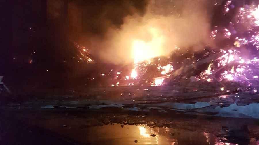 woodchip fire