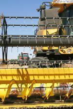 Optimistic future -yellow tractor