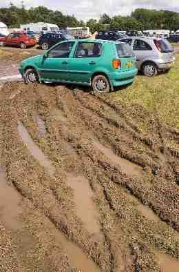 mud in car park