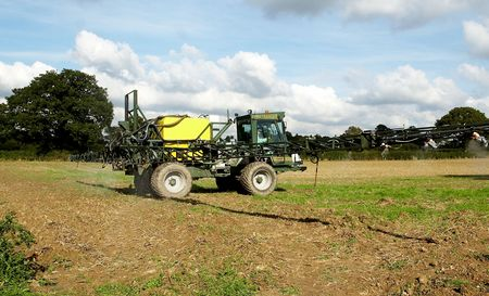 Stubble spraying seed beds