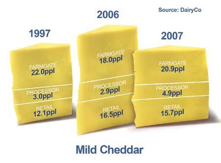 DairyCo mild cheddar margins