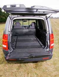 land rover discovery load space