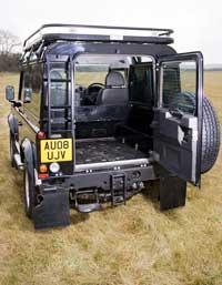 land rover defender back door