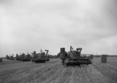 old combine picture