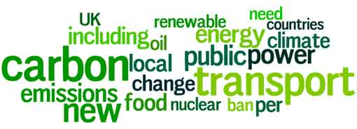 Green Party Manifesto Wordle