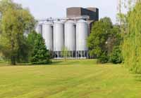 Lawn and silos