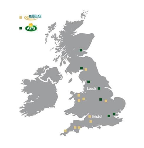 Milk merger map