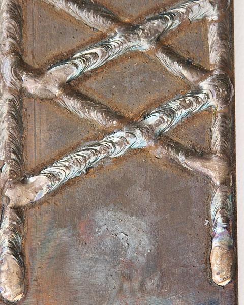 Hardfacing weld