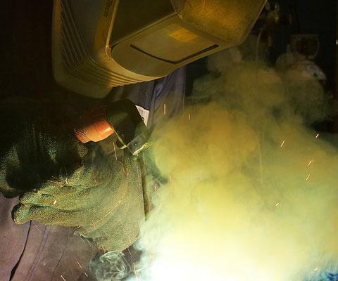 Hardfacing weld fumes