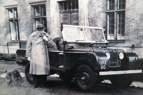 churchill with land rover