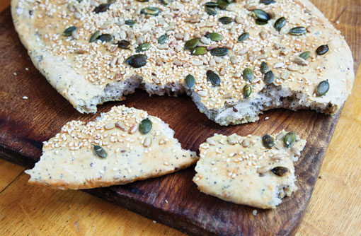 Seeded flatbread