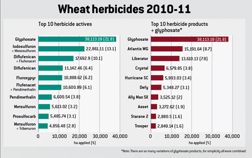 Wheat herbicide