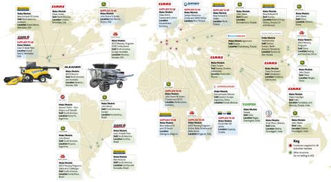 Combine world map