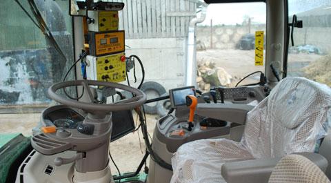 John Deere 6150R cab interior