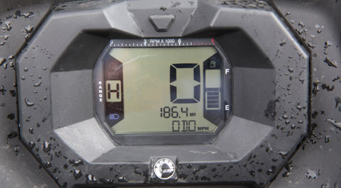 Can-Am Outlander dash display