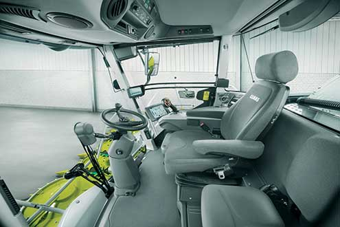 Claas 800-series forager interior