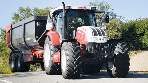 Biogas tractor