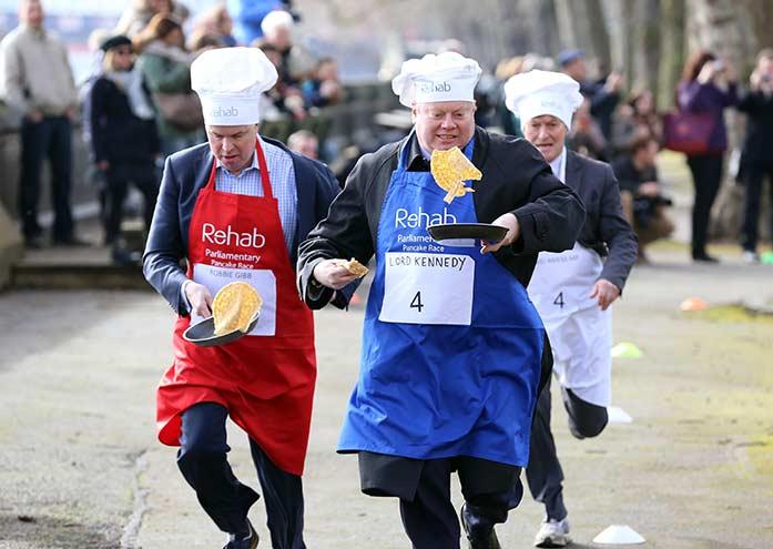 Rehab pancake race