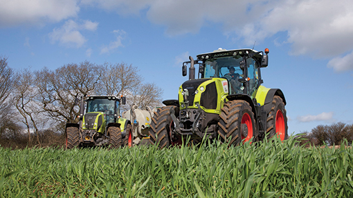 2011 and 2014 Claas Axions