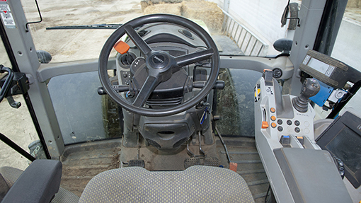 2011 Claas Axion interior