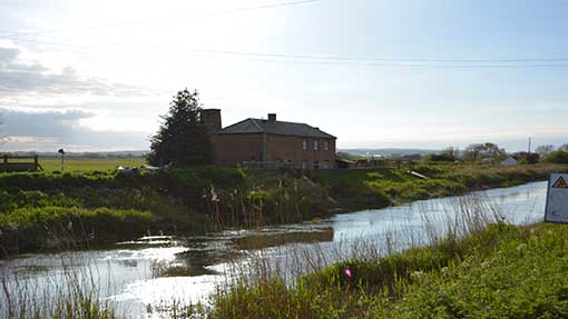 Water levels on the River Parrett have dropped dramatically over recent weeks at Burrowbridge.