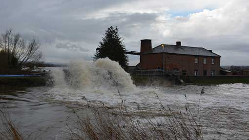 At the height of the floods, millions of litres of water were being pumped off the Somerset Levels.