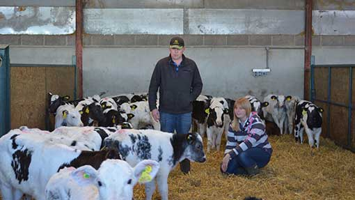 Farmers James and Becky Hall say plans to expand their calf rearing business are on hold.
