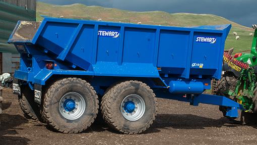 Stewart 15t dump trailer
