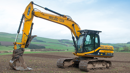 JCB JS 160 excavator with forestry spec