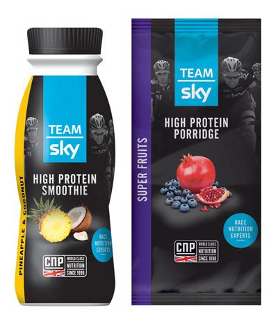 Tour de France Team Sky smoothie and muesli