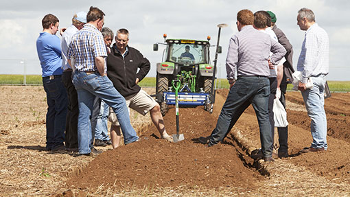 Cultivation demo at Cereals 2014
